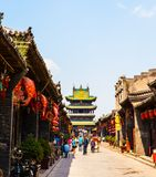 Pingyao scene-Stores and streets stock image