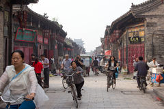 Pingyao-Stadtmarkt, China Stockbilder