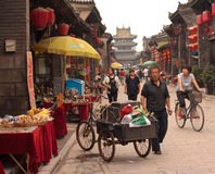 Pingyao street scene Stock Photography
