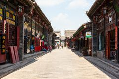 Pingyao ulicy i sklepy zdjęcia royalty free