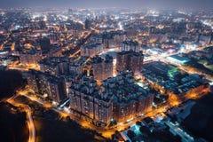 Pingzhen, αεροφωτογραφία Taoyuan τη νύχτα Στοκ εικόνες με δικαίωμα ελεύθερης χρήσης