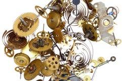 Pinhões - mecanismo do maquinismo de relojoaria Foto de Stock