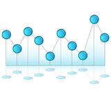 Pinhead Line Chart Stock Photography