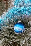 Pinheiro do inverno da decoração Foto de Stock Royalty Free