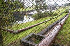 Pinheiros河的污染在圣保罗 库存图片