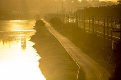 Pinheiros-Fluss Stockfoto
