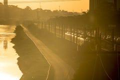 Pinheiros-Fluss Stockfotos