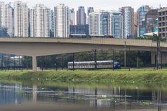Pinheiros river Stock Photos