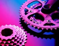 Pinhões e correntes de Bicicle Foto de Stock Royalty Free