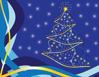 Pinho do azul do Natal Fotos de Stock Royalty Free