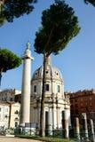 Pinho em Roma e na coluna do ` s de Trajan Imagens de Stock Royalty Free