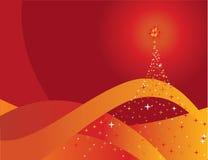 Pinho vermelho do Natal Foto de Stock Royalty Free