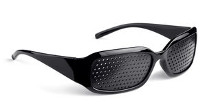 Pinhole glasses Royalty Free Stock Images