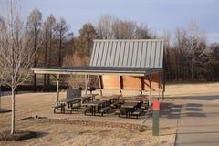 Pinic teren i pawilon Obrazy Stock