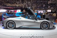 89th Geneva International Motor Show - Pininfarina Battista. The Pininfarina Battista is an electric sports car manufactured by Italian automobile manufacturer stock photo
