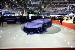 Pininfarina H2 Concept Car. Uncovered Pininfarina's H2 Concept Car at the 86th Geneva International Motor Show in March 2016 Stock Images