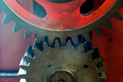Pinion gear of a mechanical machine Royalty Free Stock Images