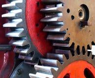 Pinion gear of mechanical machine Stock Photos