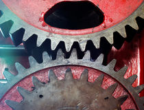 Pinion gear of mechanical machine in a factory Royalty Free Stock Image