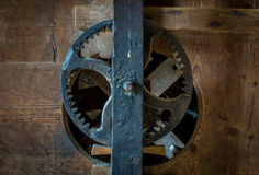 The pinion gear of an old mechanical device Royalty Free Stock Image