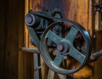 The pinion gear of an old mechanical device Royalty Free Stock Photo