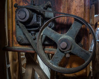 The pinion gear of an old mechanical device Royalty Free Stock Images