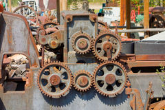 Pinion wheels on an old, obsolete machine in canada Stock Photography