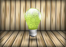 Pinions as a design element light bulb Stock Photography