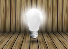 Pinions as a design element light bulb Royalty Free Stock Images
