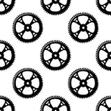 Pinions and gears seamless pattern Royalty Free Stock Photo