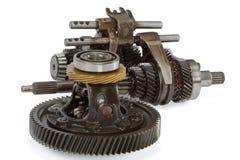 Pinions i dyferencja od gearbox, odizolowywającego na białym backg Zdjęcia Stock