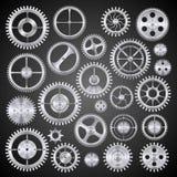 Pinions mechanisms. Vector Stock Photo
