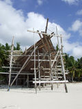 Pinisi building on beach Bira Sulawesi Royalty Free Stock Image