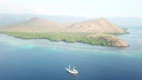 Pinisi pilota i statku indonezyjczyka wyspa zdjęcie wideo