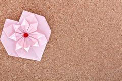 Pink бумажное сердце стоковое изображение
