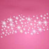 Pink предпосылка фантазии с звездами Стоковые Фото