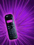 Pink. Single phone on pink background Royalty Free Stock Photo