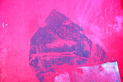 Pink. Wall with grungy glue stains Royalty Free Stock Image