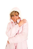 Pink. Young blond girl in the pink jacket Stock Photography