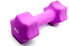 Pink 3 kg dumbbells Stock Photo
