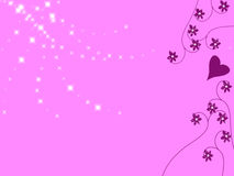 Pink. A pink background filled with stars and flowers Stock Images
