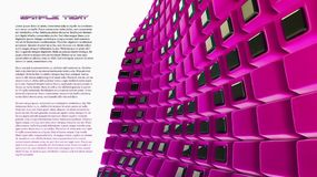 Pink 3d abstraction background. Pink futuristic 3d plate abstraction background with the place for text Stock Photo