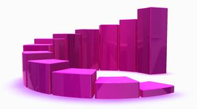 Pink 3d graph Stock Photography