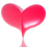 Pink 3d heart Stock Photo