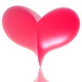 Pink 3d heart Stock Photo