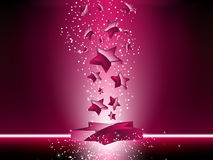 Pink 3D Stars Background. Glossy Pink 3D Stars Background Royalty Free Stock Photography