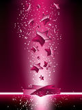 Pink 3D Stars Background Royalty Free Stock Photography