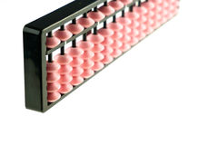 Pink abacus japan calculator isolated Royalty Free Stock Photo