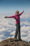 In the Pink above the clouds Kilimanjaro Stock Photos