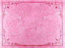 Pink abstract background. With floral decorations Royalty Free Stock Images